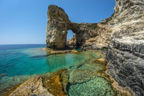 Trypitos is a naturally formed arch.