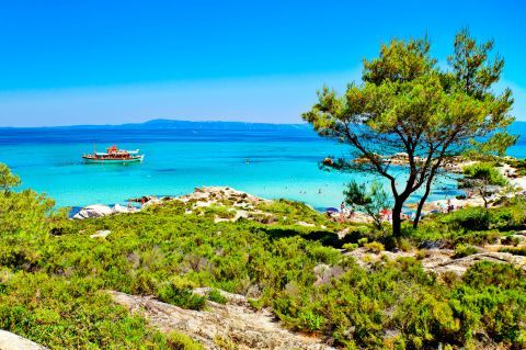 Sea view from Kavourotrypes beach, Halkidiki