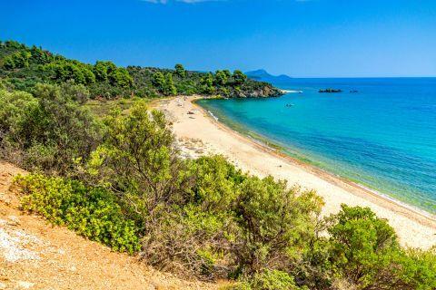 View of Agios Georgios beach