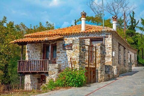 An old, stone built house in Agios Nikitas