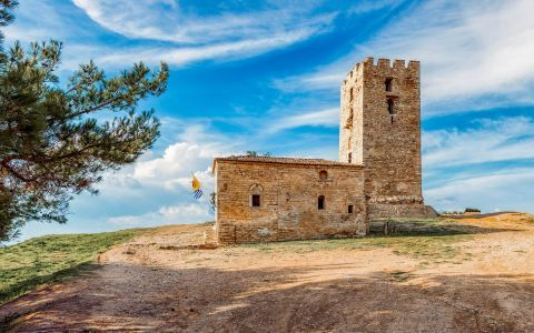 The Byzantine Tower of Nea Fokea in Halkidiki