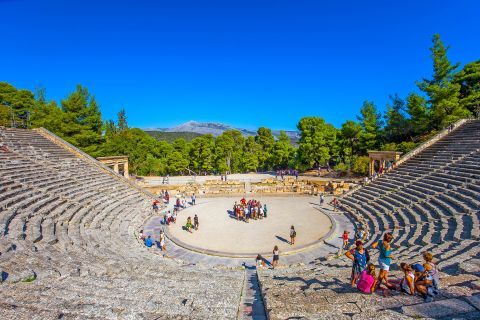At the Ancient Theater of Epidaurus