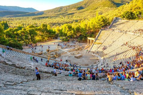 The Ancient Theater of Epidaurus is considered to be one of the best preserved Ancient Theaters in Greece.