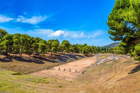 Ruins of the Olympic Stadium in Epidaurus