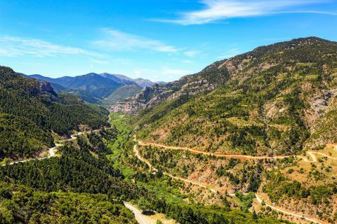 Hills with impressive vegetation, Kalavryta