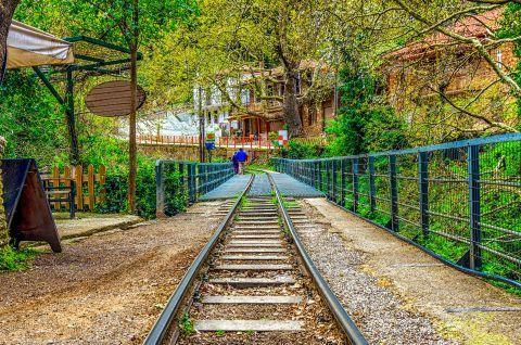 Railway in Zachlorou village