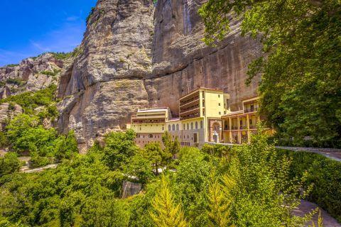 The Monastery of Mega Spileo (distant view)