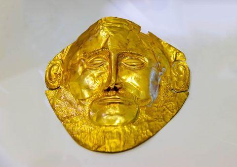 A golden face of Agamemnon