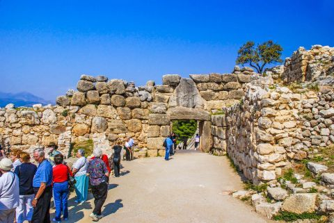 The Ancient Site of Mycenae is a popular tourist attraction