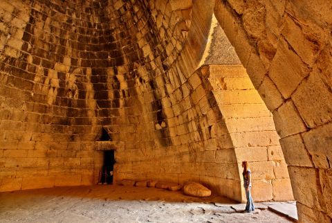 Inside the Treasury of Atreus
