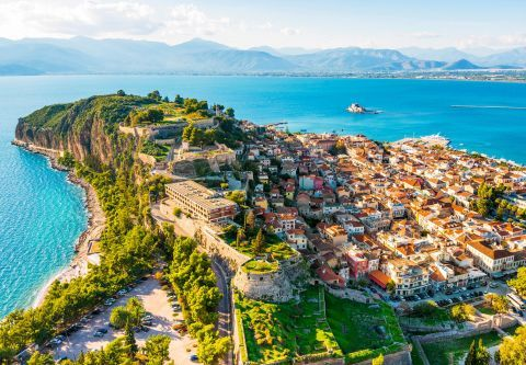 Green spots, picturesque houses and relaxing sea view, Nafplion.