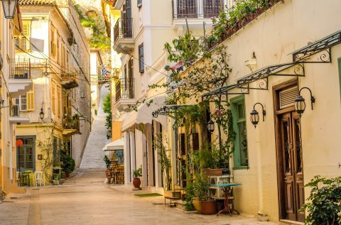 A picturesque alley in Nafplion.