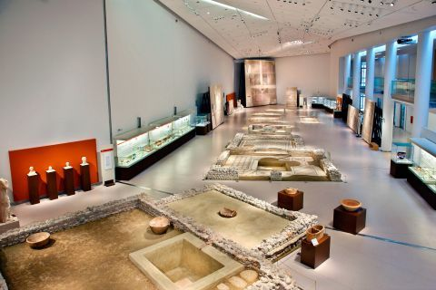 Exhibits of the Archaeological Museum, Patra.