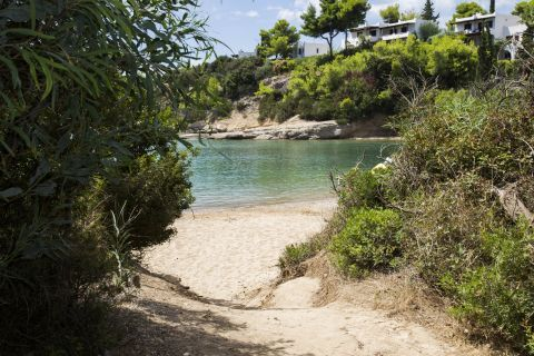 An unspoiled beach in Porto Heli