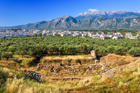 Splendid nature and mountain view at the Ancient Theater of Sparti