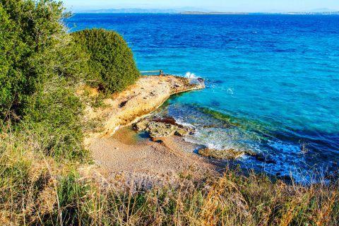 Skliri beach, Agistri