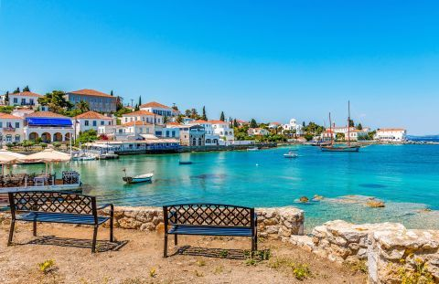 View of the Old Harbor, Spetses