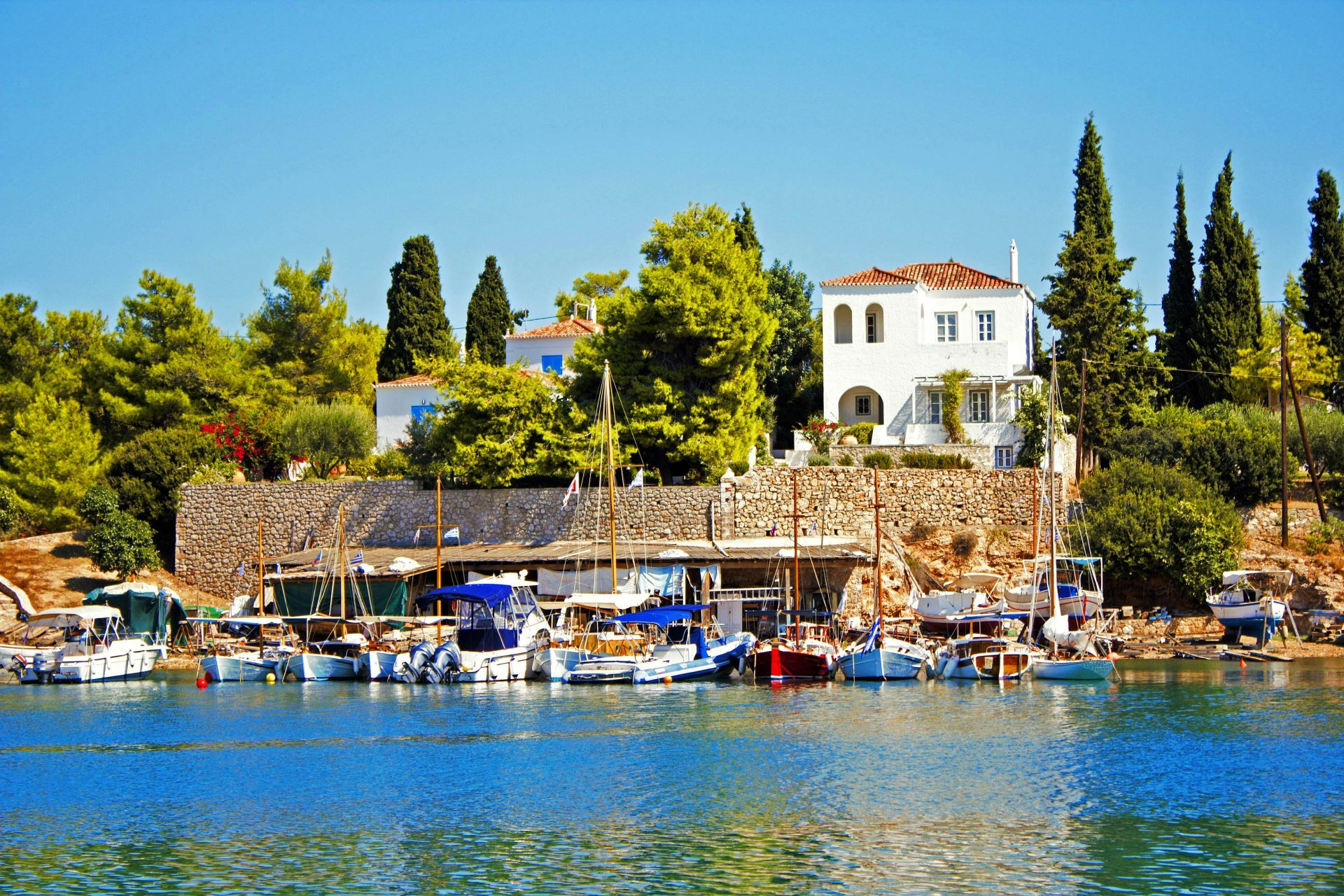 Spetses island: Town Harbour
