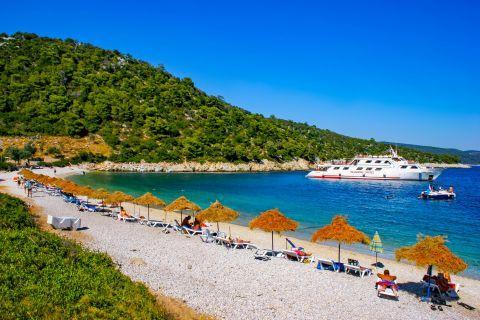 Leftos Gialos beach. Alonissos, Sporades.