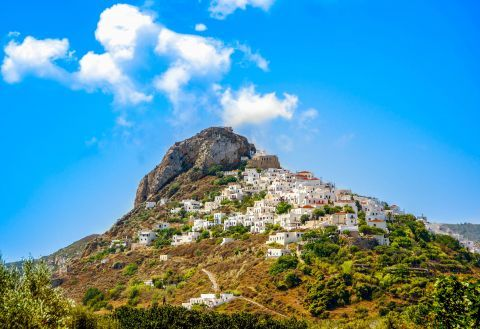 Whitewashed houses in Chora of Skyros