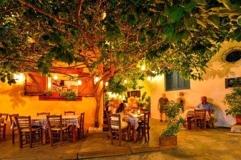 Dinner in Skiathos, Sporades.