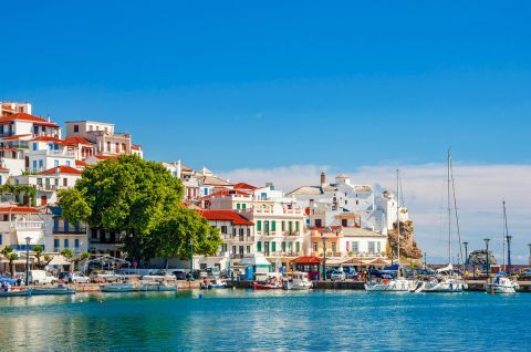 View of Chora, Skopelos.