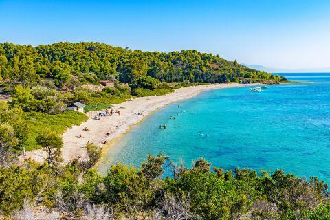 View of Tsougrias beach.