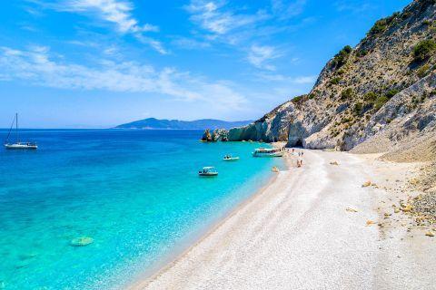 Exotic setting. Lalaria beach, Skiathos.