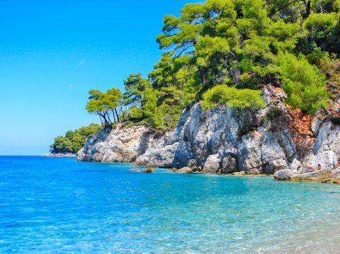 Magical beaches in Skopelos.