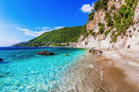 Hovolos beach, Skopelos.