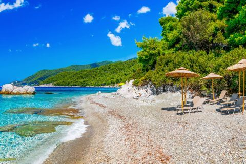 Milia beach, Skopelos.