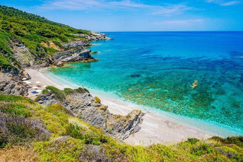 Perivoliou beach, Skopelos.