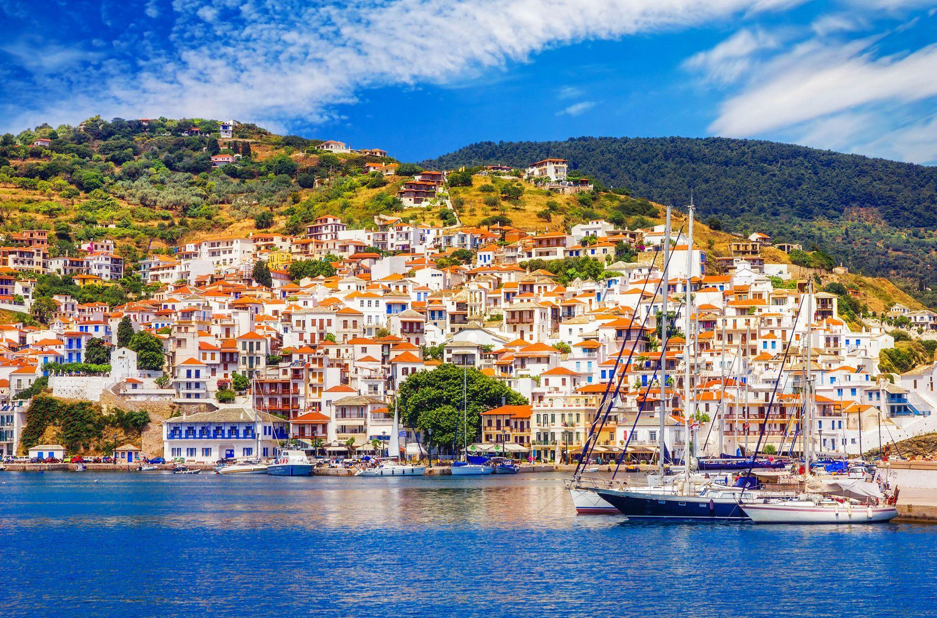Skopelos island: Town