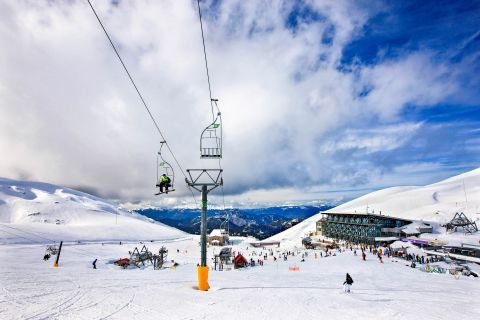 The Snowboarding Center of Arachova on Mount Parnassus