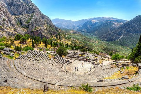 The Ancient Theater of Delphi