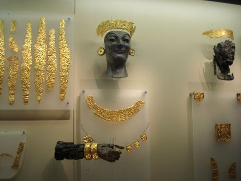 Ancient jewelry, exhibited in the Archaeological Museum of Delphi