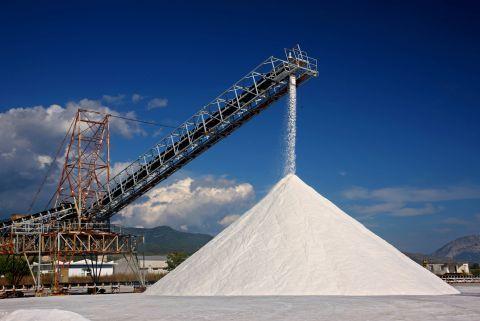 The salt production process in Mesolongi