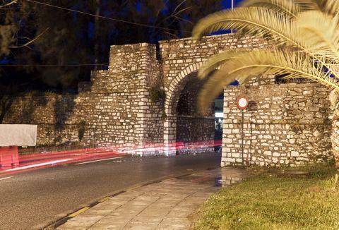 A stone built arch in Mesolongi