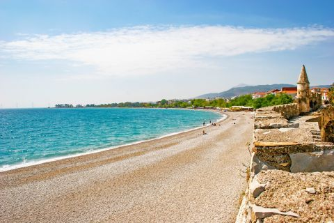 Town beach, Nafpaktos