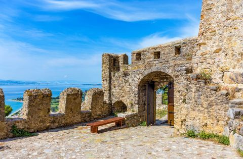 The gate of the Venetian Castle of Nafpaktos
