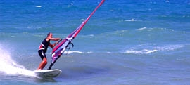 Heraklion windsurfing and kitesurfing