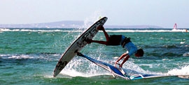 Naxos windsurfing and kitesurfing