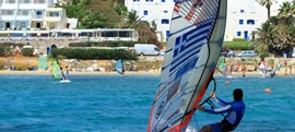 Paros windsurfing and kitesurfing