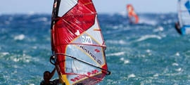 Rhodes windsurfing and kitesurfing