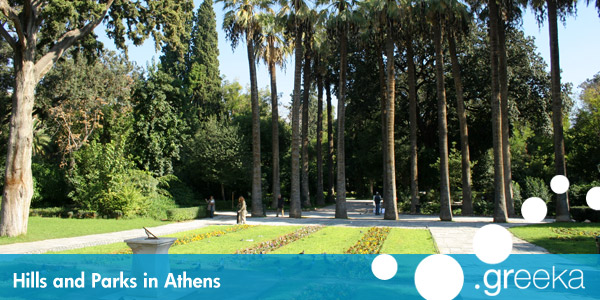Athens hills and parks