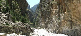 Walking through Samaria Gorge