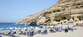 Relaxing beach of Matala