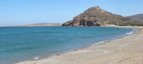 Secluded beach of Paleokastro