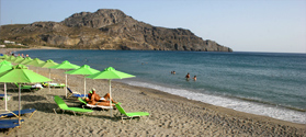 Sandy beach of Plakias