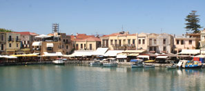 The old port of Rethymnon Town